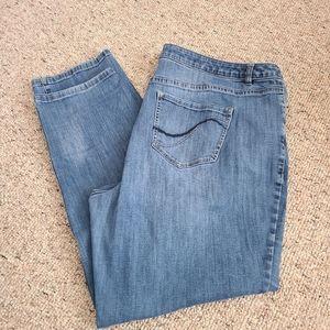 Lane Bryant Straight Leg Genius Fit Jeans Size 24